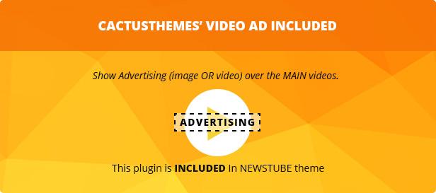 Video Ads Plugin included