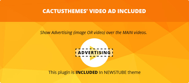 Video Ads Plugin included